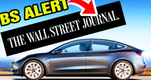 BS Alert: Electric Cars Falsely Attacked by the Wall Street Journal